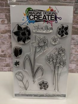 Spring Flowers : IDC0148  - A6 Stamp set