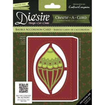 Crafters Companion Diesire Bauble accordian card