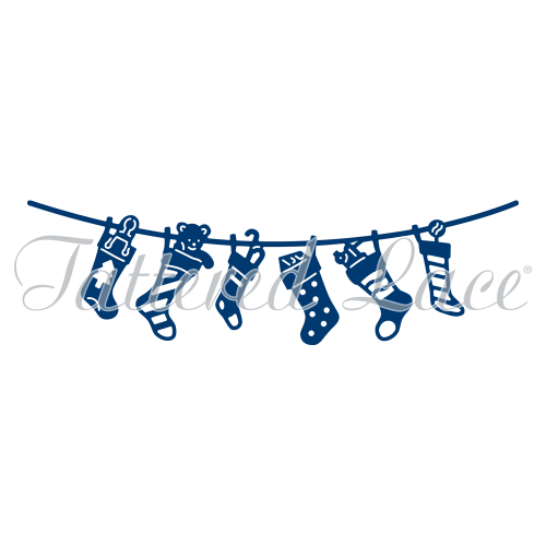 Tattered Lace - Christmas Stockings Washing Line