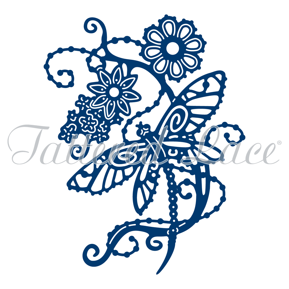 Tattered Lace - Dragonfly Flowers