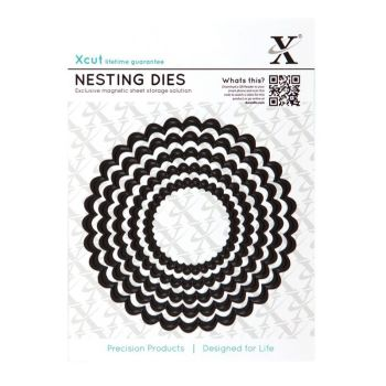 Xcut Dies Nesting Dies Scalloped Cirlce (5pc)