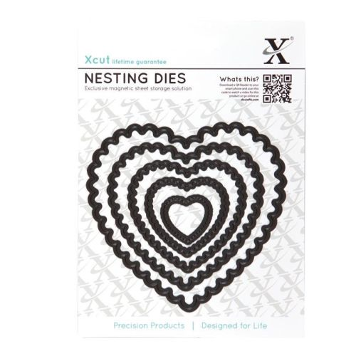 Xcut Dies Nesting Dies Scalloped Heart (5pcs)