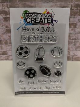 Have a ball : IDC0150 - A7 stamp set