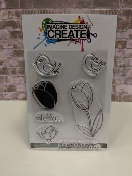Tulips : IDC0151 - A7 stamp set