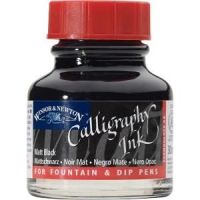 Winsor and Newton Matt Black Calligraphy Ink 30ml