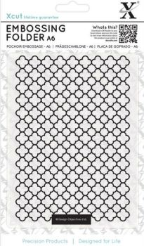 A6 Xcut Embossing folder - Moraccan Flower Tiles