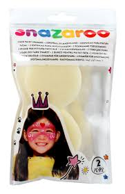 Snazaroo face paint sponges - pack of 2.