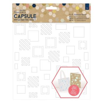 "8 x 8"" Adhesive Stencil (1pc) - Squares - Capsule - Geometric"