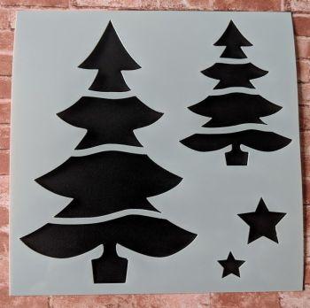 """Festive Tree 6x6"""" Stencil / Mask"""