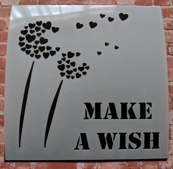 "Make a wish 6x6"" Stencil / Mask"