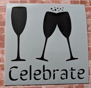 "Celebrate 6x6"" Stencil & Mask set"
