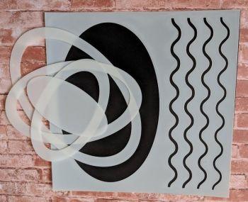 """Ovals 6x6"""" Stencil & Mask set"""