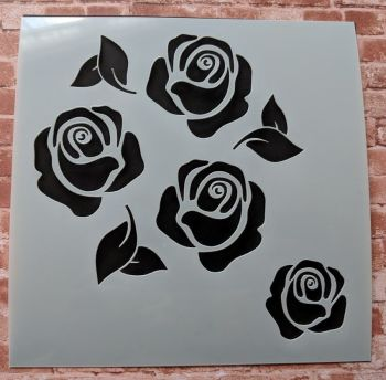 "Roses 6x6"" Stencil / Mask"