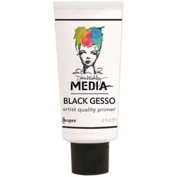 Dina Wakley Media black gesso
