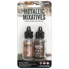Metallic Mixatives - Rose Gold and Gunmetal