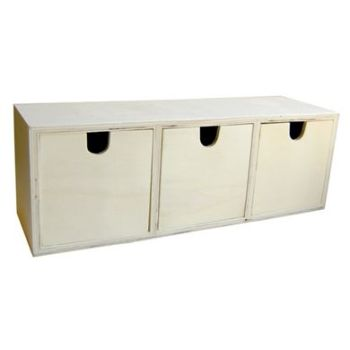 Chest 3 Drawers 30.5x9x10.5cm