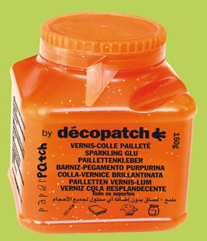 Decopatch Paperpatch glossy glitter glue