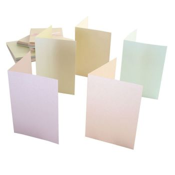 Docrafts Anita's A6 Pastel Pearlescent Cards and Envelopes 50pk