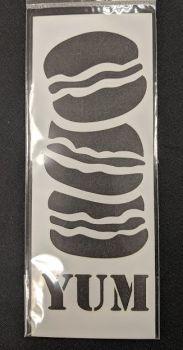 Macaroons & Burgers Stencil / Mask 80mm x 210mm
