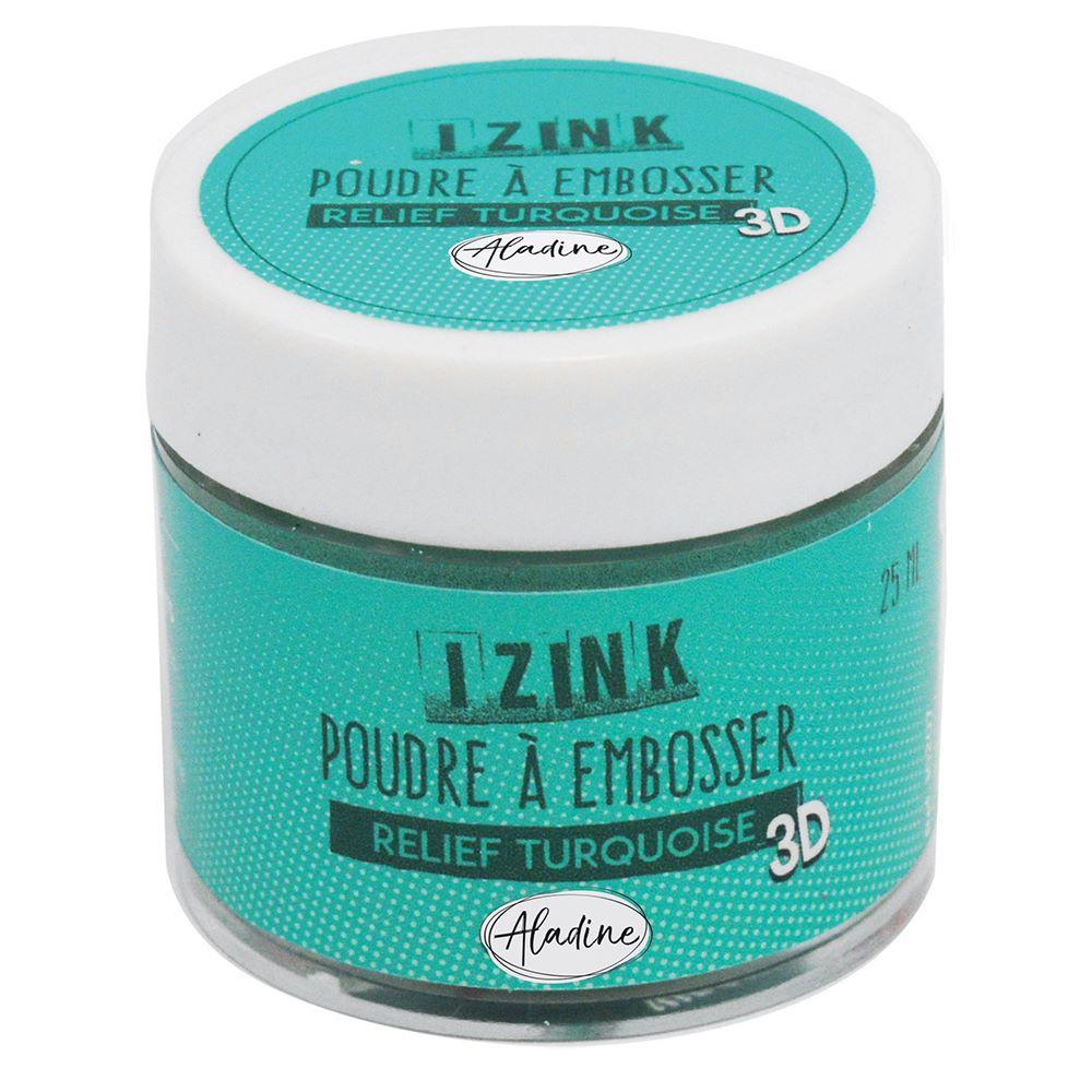 Aladine Embossing Powder - Relief Turquoise 25ml