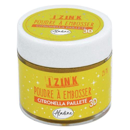 Aladine Embossing Powder - Citronella Paillete 25ml