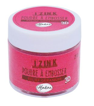 Aladine Embossing Powder - Relief Geranium 25ml