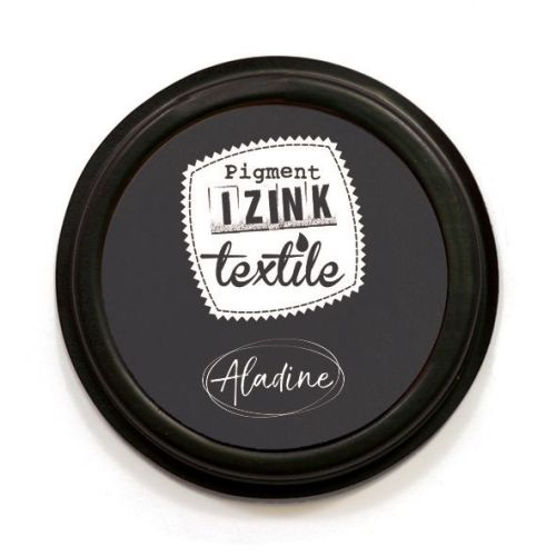 Izink Pigment Textile Stamp Pad - Khol