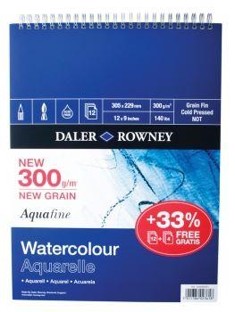 Daler Rowney Aquafine Spiral Pad 12 x 9