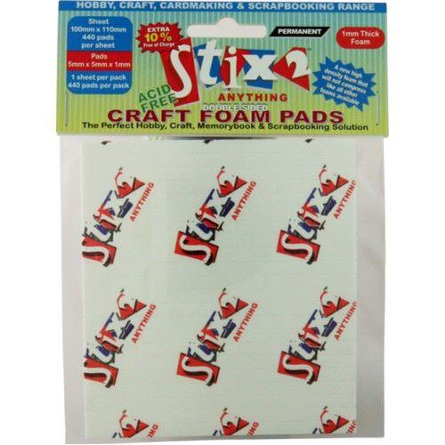 Stix 2 Craft Foam Pads - 5mm x 5mm x 1mm
