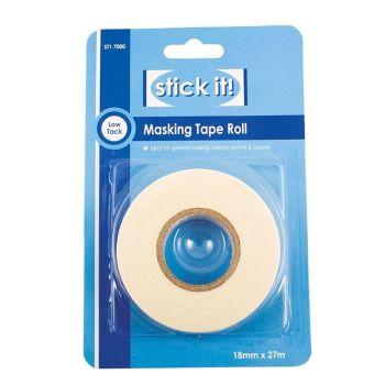 27m Masking Tape Roll (18mm Width)