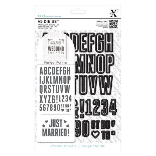 A5 Die Set (48pcs) - Wedding Alphabet & Numbers