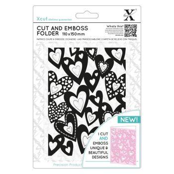 Cut & Emboss Folder - Multi Hearts