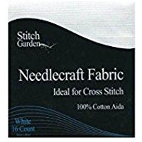 Stitch Garden Needlecraft Fabric White 18 count 30x45cm