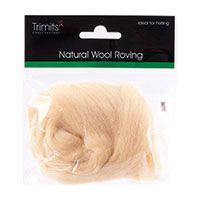 Trimits Felting Natural Wool Roving Cream 10g
