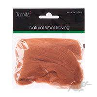 Trimits Felting Natural Wool Roving Beige 10g