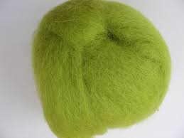Trimits Felting Natural Wool Roving Lime 10g