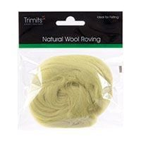 Trimits Felting Natural Wool Roving Pistacchio 10g