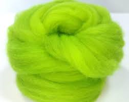 Trimits Felting Natural Wool Roving Neon Green 10g