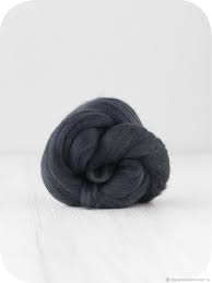 Trimits Felting Natural Wool Roving Graphite 10g