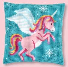 Vervaco Cross Stitch Unicorn Pillow Kit