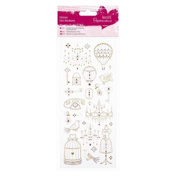 Glitter Dot Stickers - Birdcages & Chandeliers