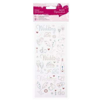 Glitter Dot Stickers - Wedding