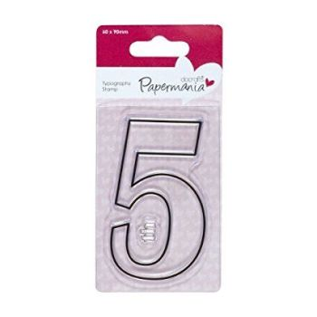 Papermania 60x90 Typography Clear Stamp - 5