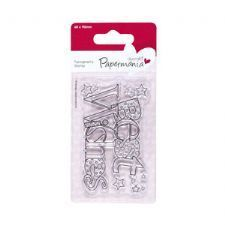 Papermania 60x90 Typography Clear Stamp - Best Wishes
