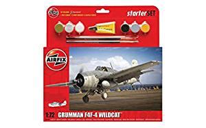 AIRFIX A55214 GRUMMAN WILDCAT F4F-4 STARTER KIT