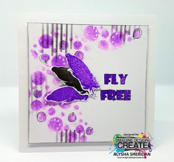fly free stencilled background
