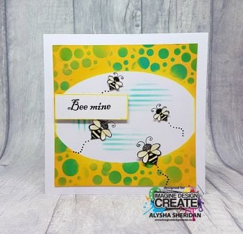 Bee mine stamps with Ovals Stencil