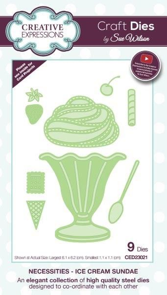 Creative Expressions Necessities Collection Ice Cream Sundae
