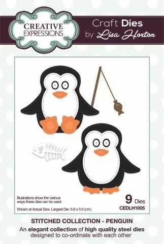 Creative Expressions Stitched Collection Penguins Die