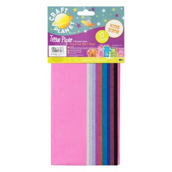 50 x 66cm Tissue Paper 10 Assorted Colour Sheets